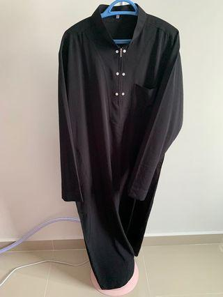 Black Jubah for Men (FREE Pomade)