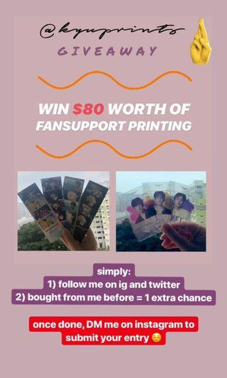🚚 [GIVEAWAY] FREE FANSUPPORT PRINTING