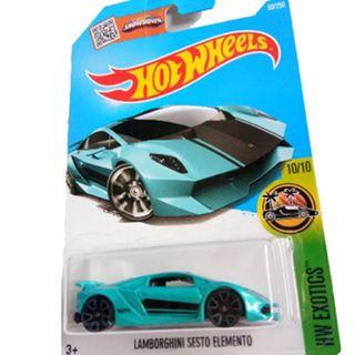 Hot Wheels Lamborghin Sesto Elemento 80/250 HW Exotics Die-cast teal color