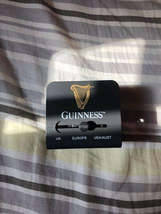 Guinness multi-country plug and dual USB charging