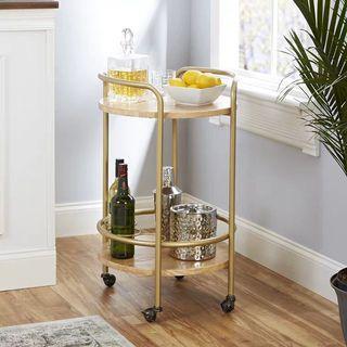 Mini Round Bar Food Cart Trolley