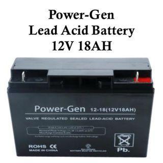 Power-Gen Lead Acid Battery 12V 18AH Valve Regulated Sealed