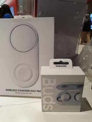 Samsung Galaxy buds and wireless charger pro