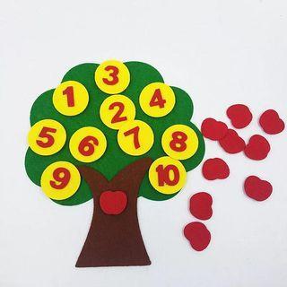 🚚 Apple counting felt craft