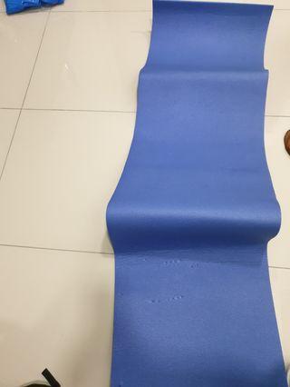 Hiking foam mat andsleeping bag