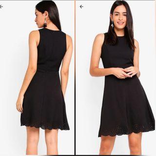 Black Dress with Laser Cut Detail