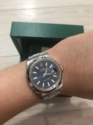 🚚 Rolex datejust blue 116300