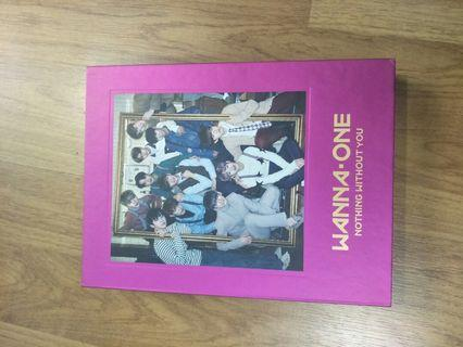 K-pop official elbum Wanna one Nothing Without You (purple)