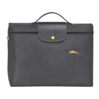 法國購回🇫🇷全新Longchamp 新款深灰 鐵灰色 尼龍 微防水 公事包電腦包 超輕盈包