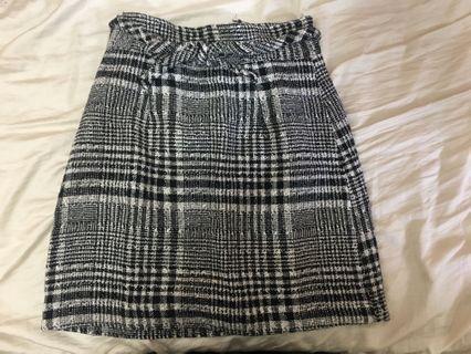 🚚 東京著衣日系格紋蝴蝶結窄裙
