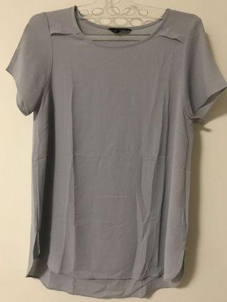 New Look soze 10 Grey Blouse