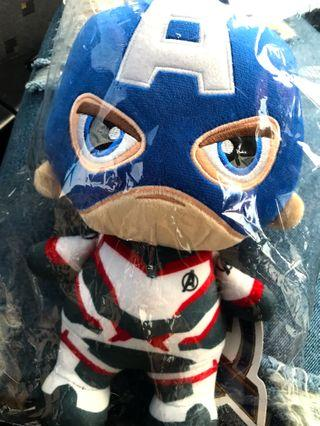"""𝘼𝙑𝙀𝙉𝙂𝙀𝙍𝙎: 𝙀𝙣𝙙 𝙂𝙖𝙢𝙚 CAPTAIN AMERICA 10"""" plush toy (Limited Edition)"""