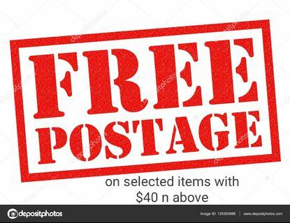 LImited time!! Free postage on selected items n with $40 above