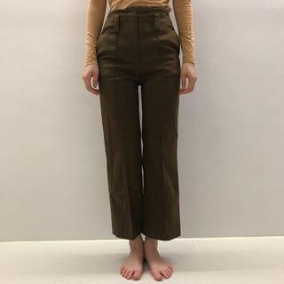 韓國高腰壓線直筒褲