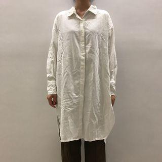 韓國長版襯衫 可當外罩、洋裝