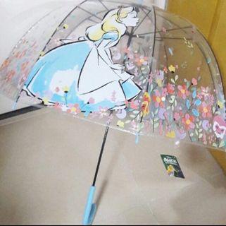 Disney 愛麗絲 夢遊仙境 Alice 透明雨遮 雨傘
