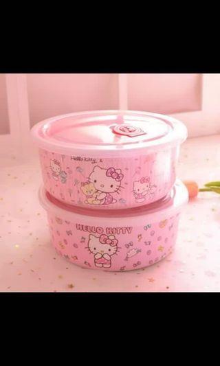 新款Hello Kitty 密胺連蓋保鮮碗/廚房必備之選