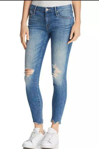 Ripped jeans skinny washed blue robek