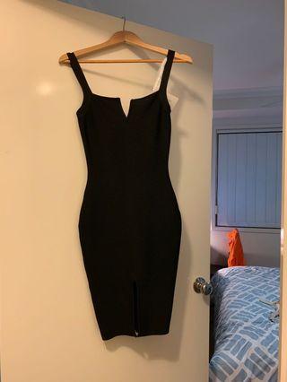 Noodz Black Midi Bandage Dress