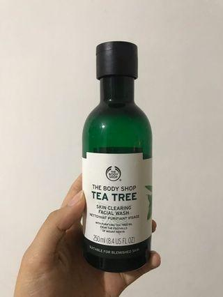 tea tree face cleansing