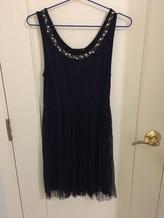Heather one piece dress 閃石紗裙