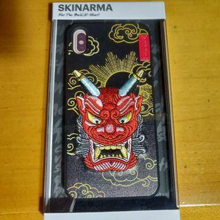 iPhone xs max Case skinarma 日本 紅鬼 japan 刺繡 保護套 殼
