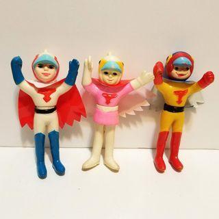Nakajima 太空飛鷹俠 神勇飛鷹俠 G1 G3 G4 中古品 膠公仔 Gatchaman popy bullmark medicom evolution toys