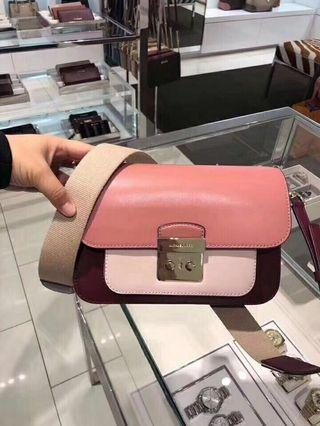 Michael Kors Sloan editor colorblock camera bag 袋 crossbody handbag shoulder bag