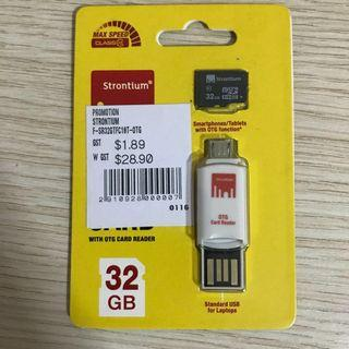 🚚 Strontium 32GB Memory card with OTG Card Reader