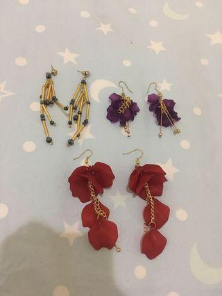 Anting 3 pcs 50 rb