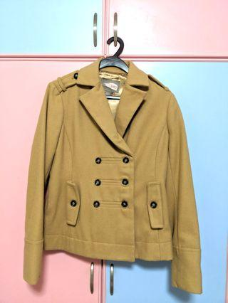 🚚 Forever 21 (Love 21) Double Breasted Coat in Camel