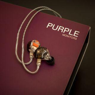 全新 EarSonics Purple 五動鐵單元 三路分音 CM 2-Pin 插頭 入耳式 耳機