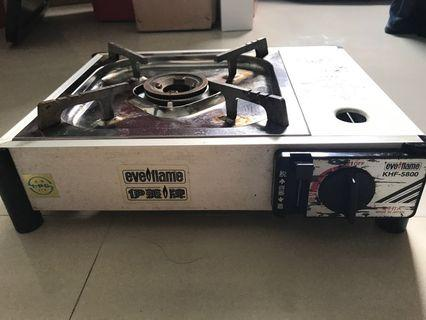 Portable aluminium gas stove (with gas)