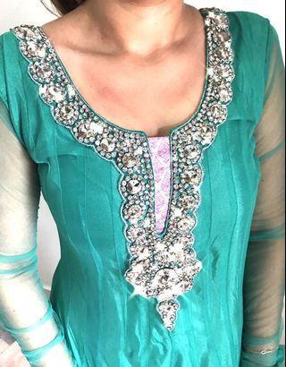 Anarkali punjabi suit (mint green)