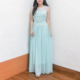 Blue Sky Party Dress - Gaun Pesta Biru - long dress