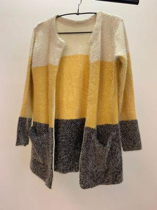 針織毛料外套