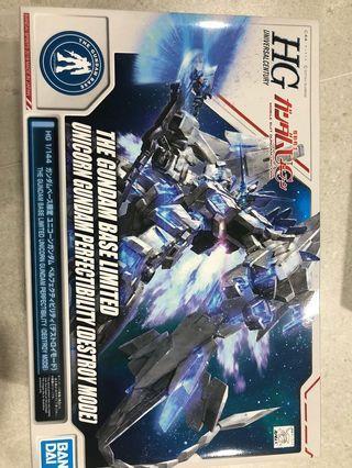 🚚 HGUC The Gundam Base Limited Unicorn Gundam Perfectibility (Destroy Mode)