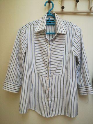 Formal stripes blouse