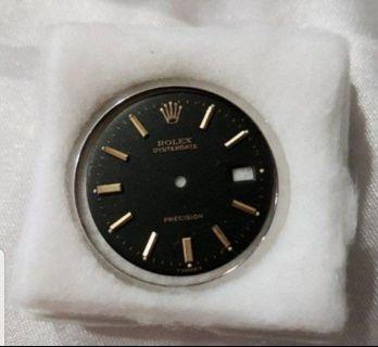 Rolex Vintage Precision Black Dial with Gold Markers 28mm Suitable for 6694