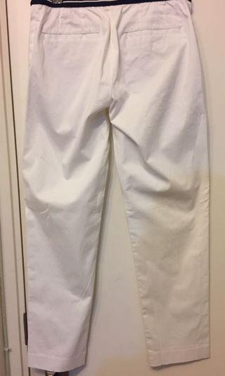 White ankle pants
