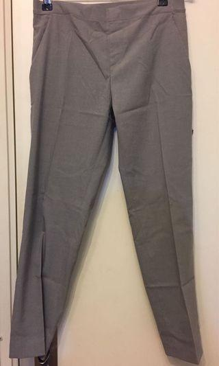 Grey ankle pants