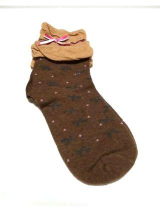 Brown lace ribbon socks #ENDGAMEyourEXCESS