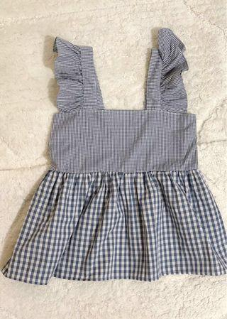 BN Checkered Babydoll Top (Blue)