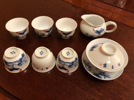 景德鎮雲瓷茶具套裝6杯組