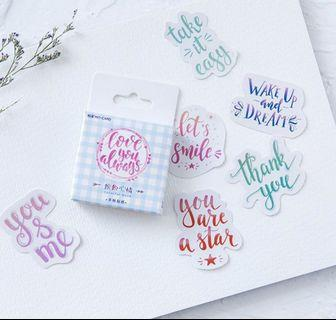 45 pcs Paper Sticker Decor