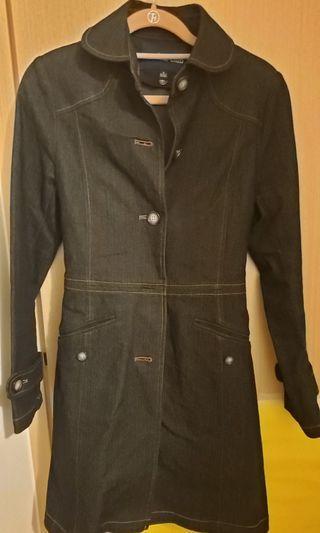 Vertical Jean's coat 牛仔長褸(有內膽,可拆除)