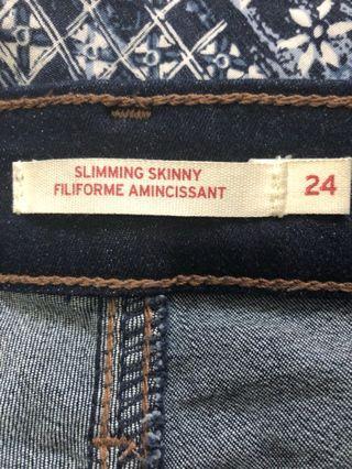 Levi's 24 32 blue jeans