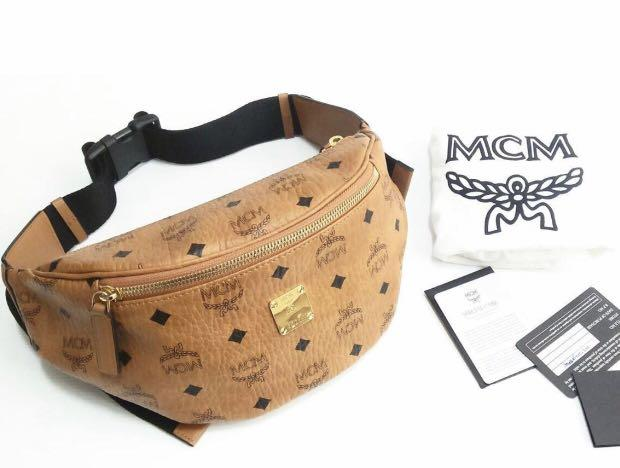 2018 Excellent MCM bumbag small 25 X 11 Cm. kelengkapan: Dustbag, booklet, card