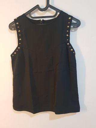 Studded black top