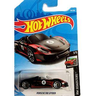 Hot Wheels Mainline Hw Roadsters: Porsche 918 Spyder (Black) - In Card 94/250